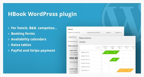 HBook - Hotel Booking System WordPress Plugin