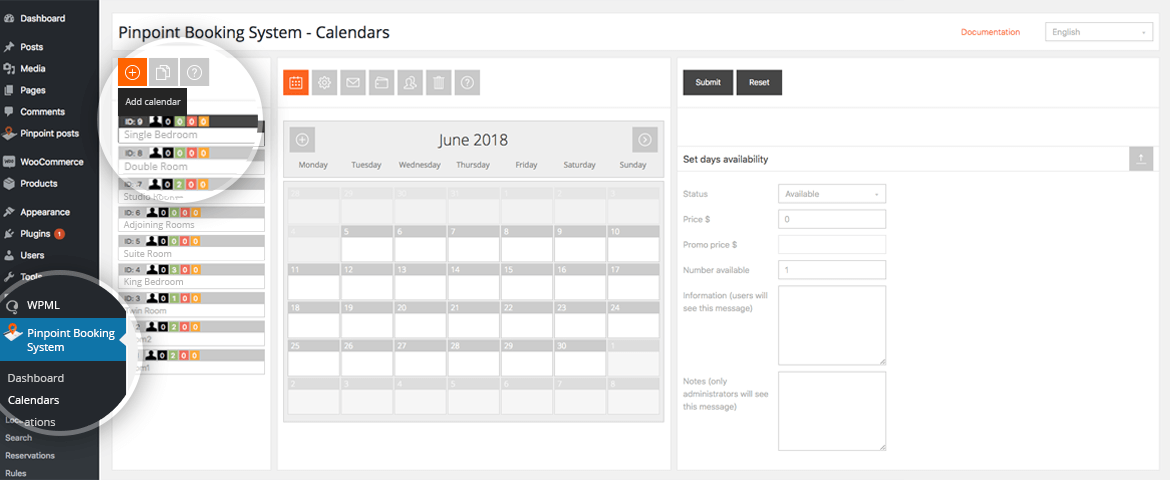 The easiest way to rent accommodations, schedule services, book events or receive online reservations and appointments of any kind with your WordPress site. Your customers will be impressed by how easy-to-use, fast and clear, it is to check availability and send a booking request in one amazing and unique AJAX calendar.