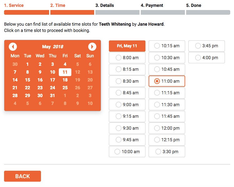 Automated online booking & scheduling for WordPress: fully customizable booking form with online payments, notifications, and Google Calendar sync.