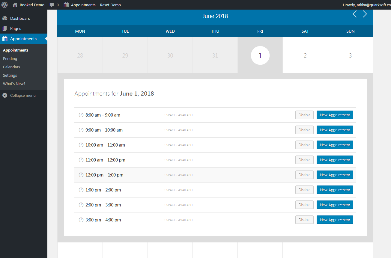 Booked adds appointment booking capabilities to your website. it's easy to set up and—more importantly—easy for your customers to book appointments.