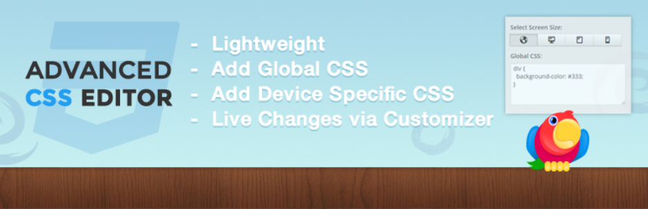Advanced CSS Editor WordPress Plugin