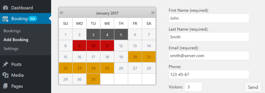 Booking Calendar - WP plugin for online booking & availability checking service