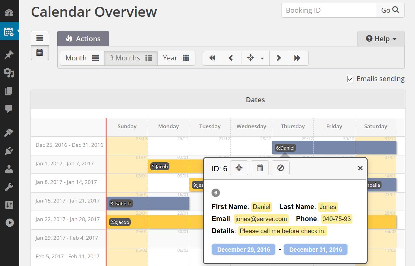 Booking Calendar screenshot-01