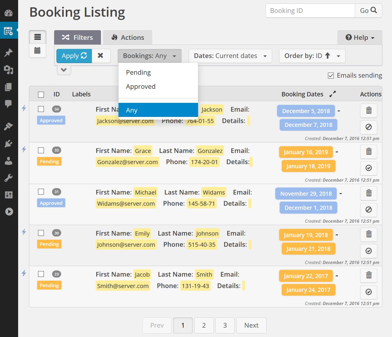 Booking Calendar screenshot-02