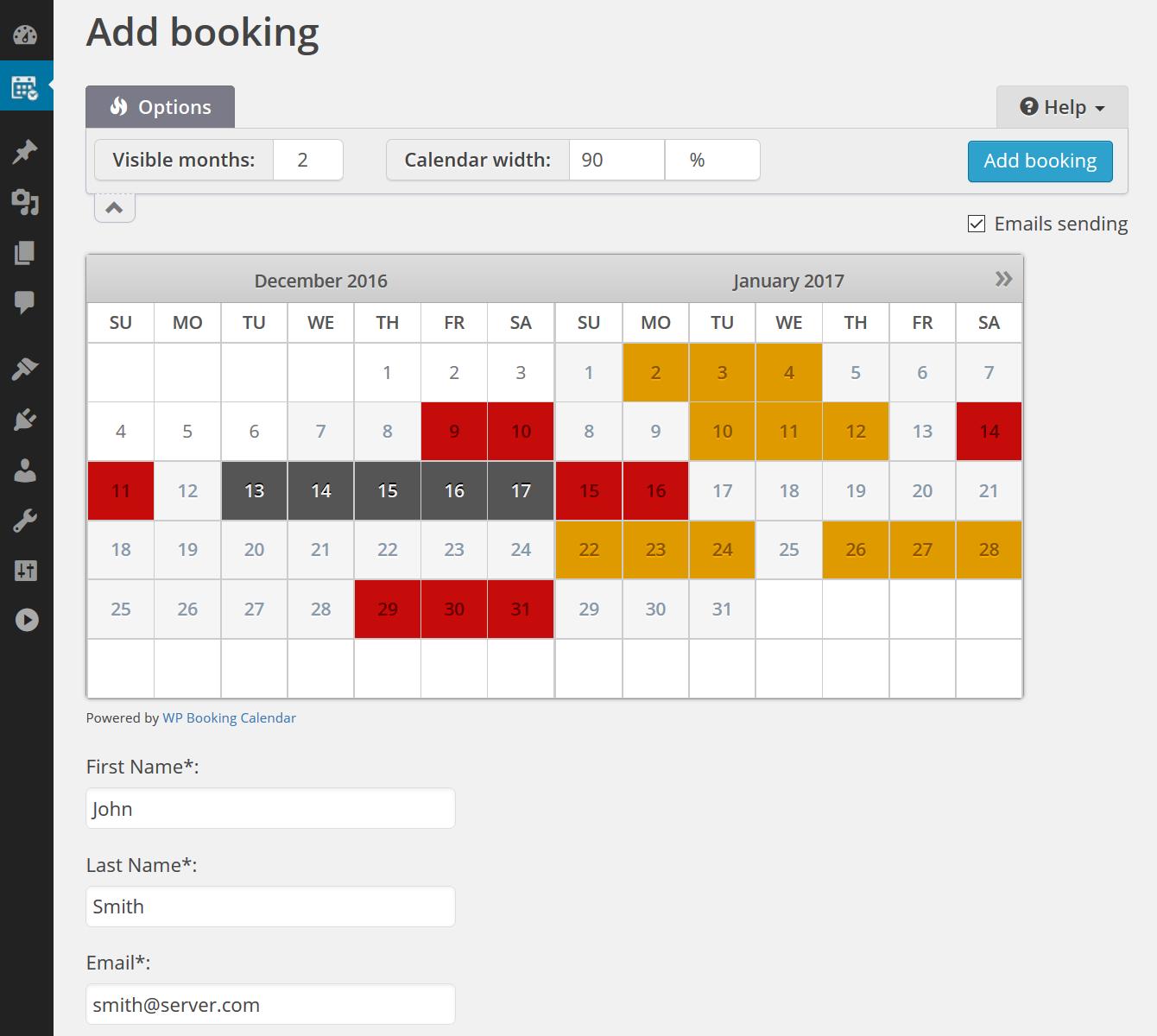 Booking Calendar screenshot-03