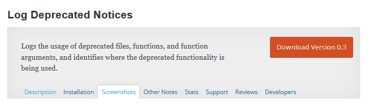 This plugin logs the usage of deprecated files, functions, and function arguments. It identifies where the deprecated functionality is being used and offers the alternative if available.