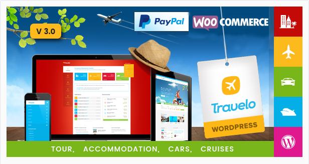 ravelo - Travel/Tour/Car Rental/Cruise Booking WordPress Theme