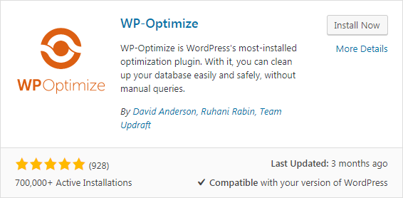 WP Optimize - Keep Your Database Fast and Efficient
