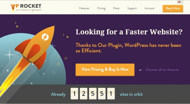 Speed up your WordPress website, more traffic, conversions and money with WP Rocket caching plugin.