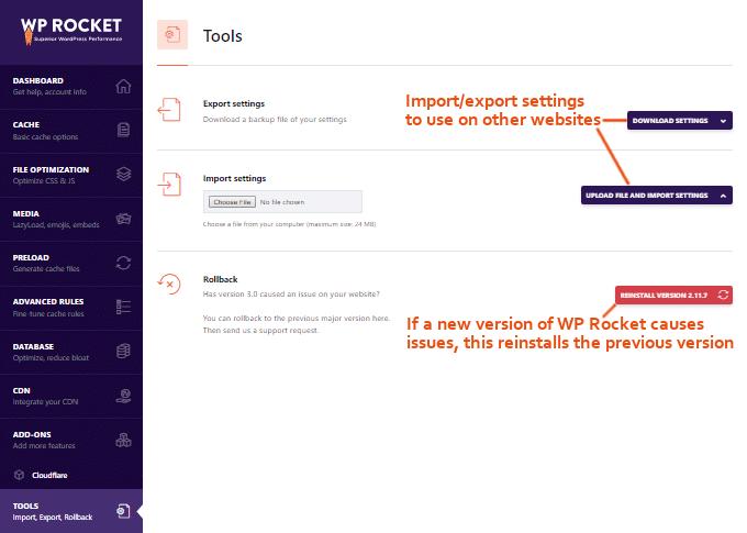 WP-Rocket-Tools-Settings
